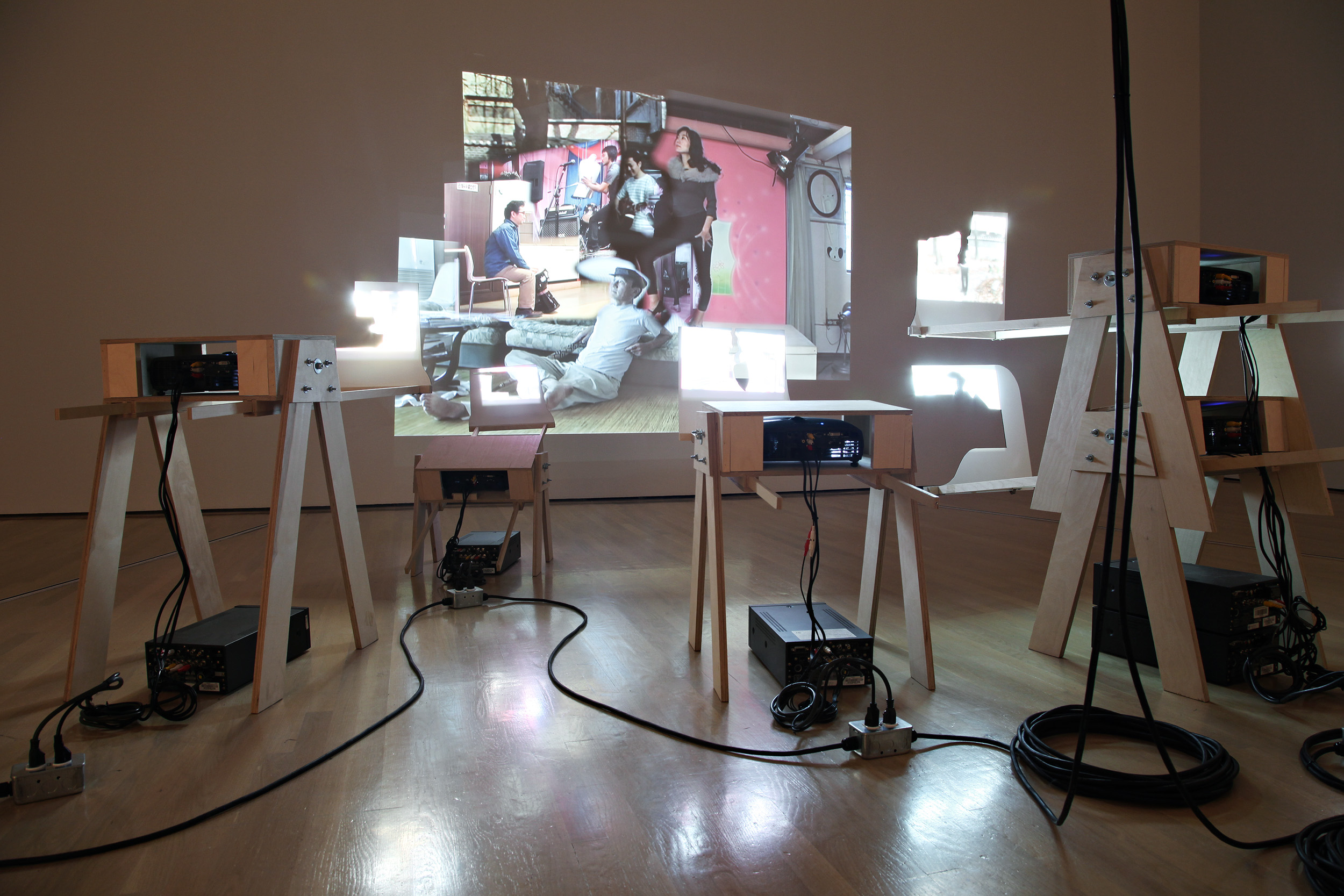 Cuba Still (Remake) , installed at the Musée d'art contemporain de Montréal, 2009.