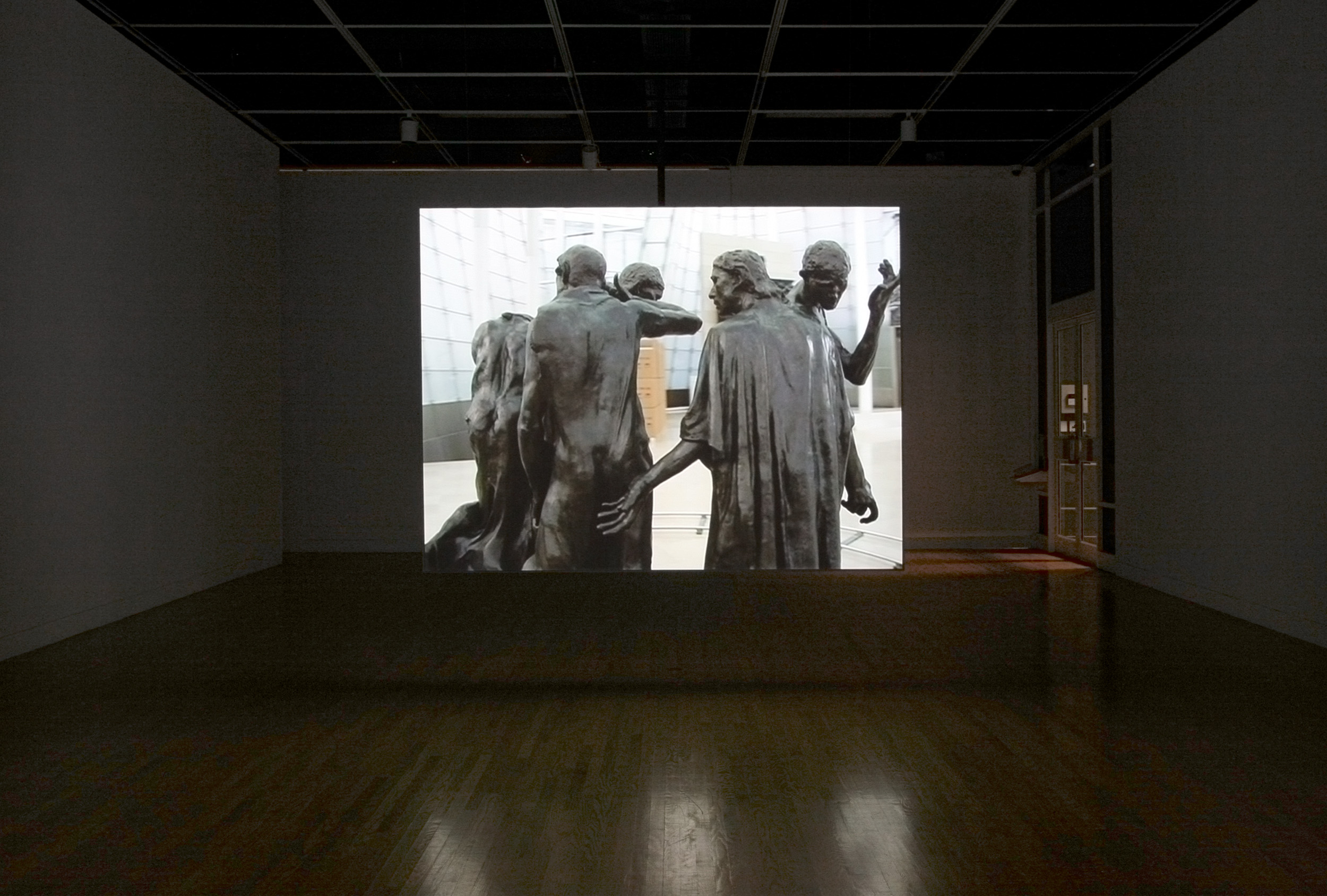 Burghers of Seoul , View of suspended screen looking East, Leonard and Bina Ellen Gallery, 2007