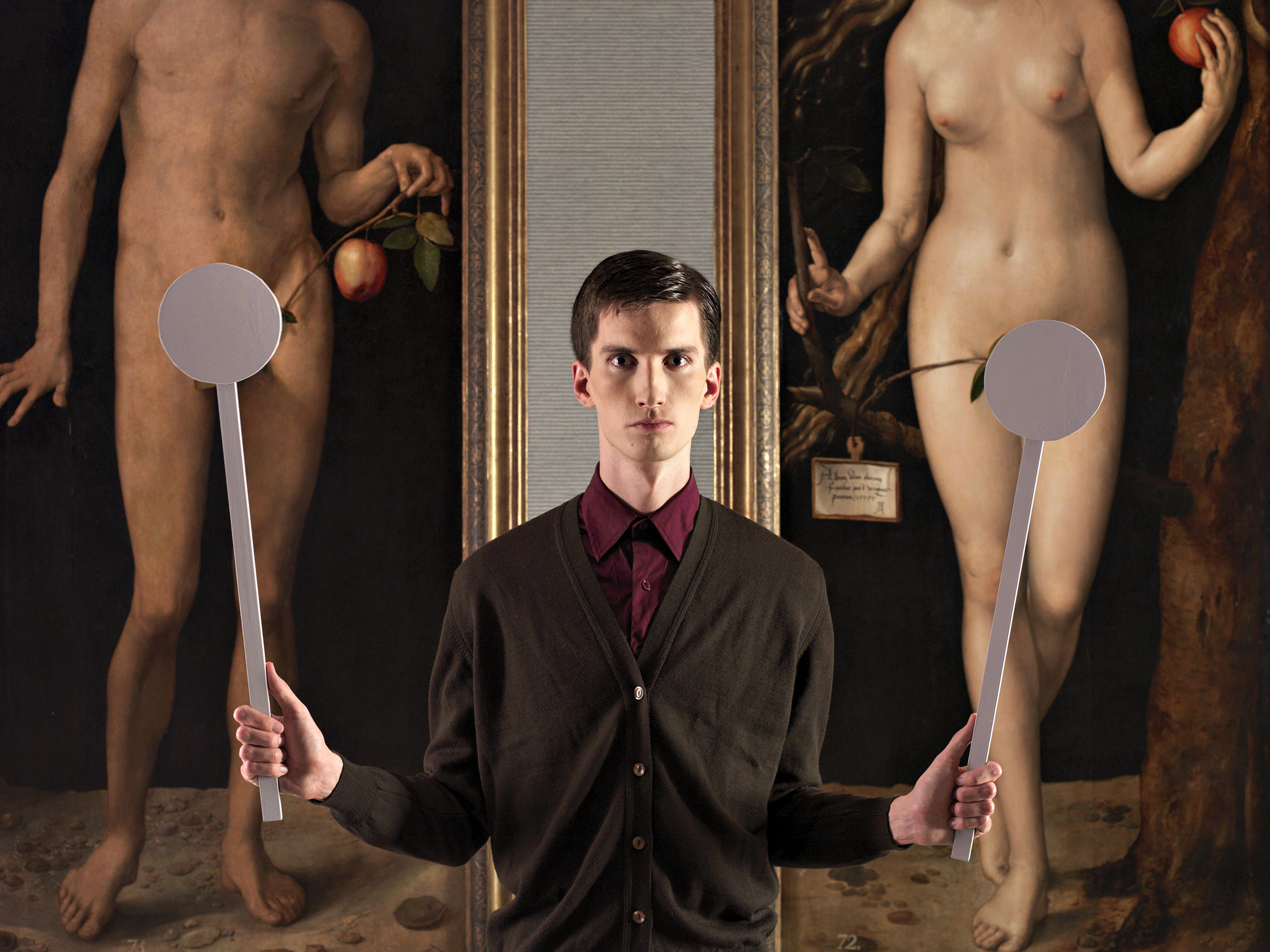 Adam and Eve  2009, colour photograph 101 x 76 cm / 30 x 40 in. Edition of 7 Produced with the cooperation of the Museo Nacional del Prado