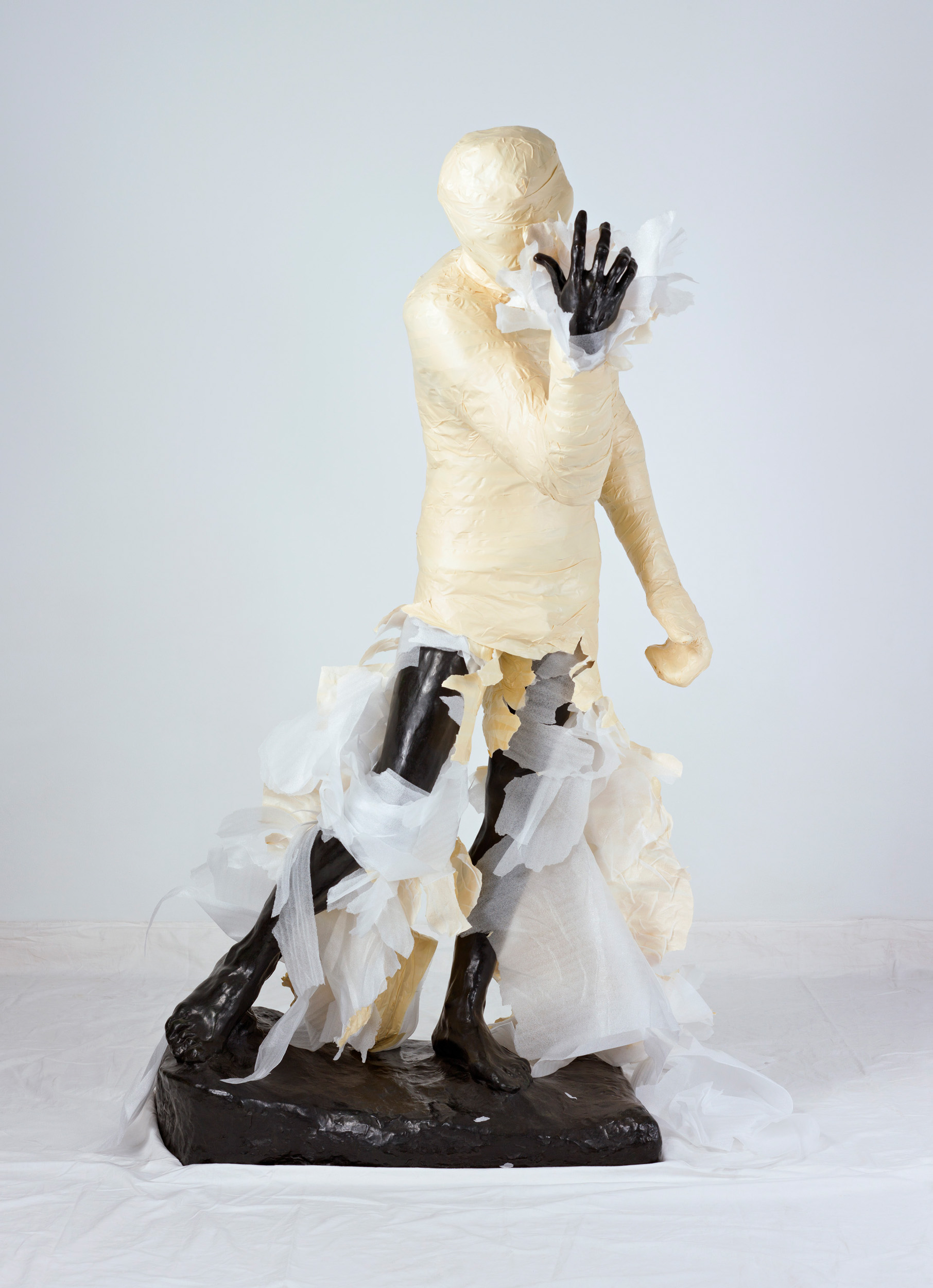 Unwrapping Rodin (White) 4   2010, colour photograph 175 x 127 cm / 69 x 50 in. Edition of 2