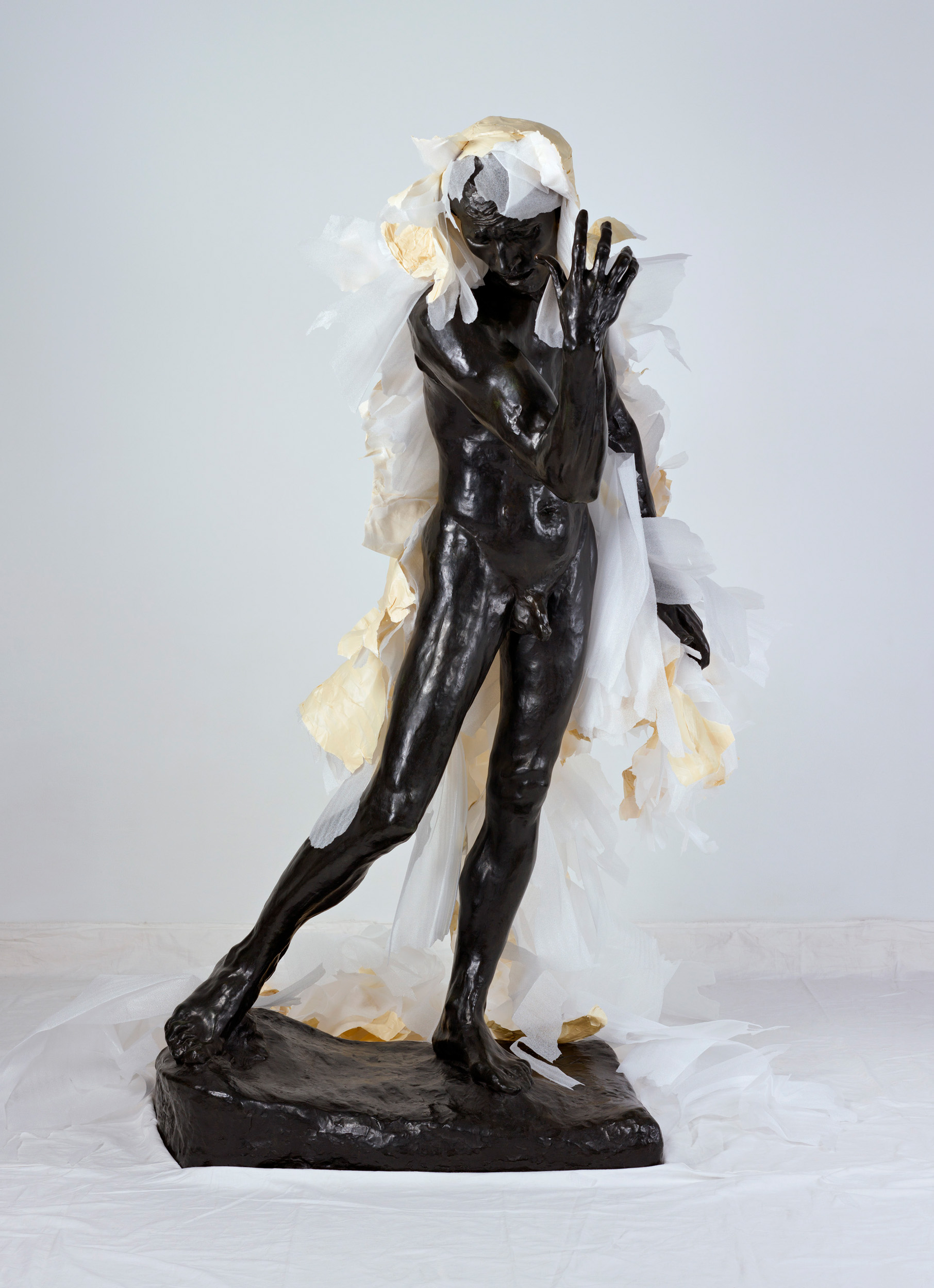 Unwrapping Rodin (White) 7   2010, colour photograph 175 x 127 cm / 69 x 50 in. Edition of 2