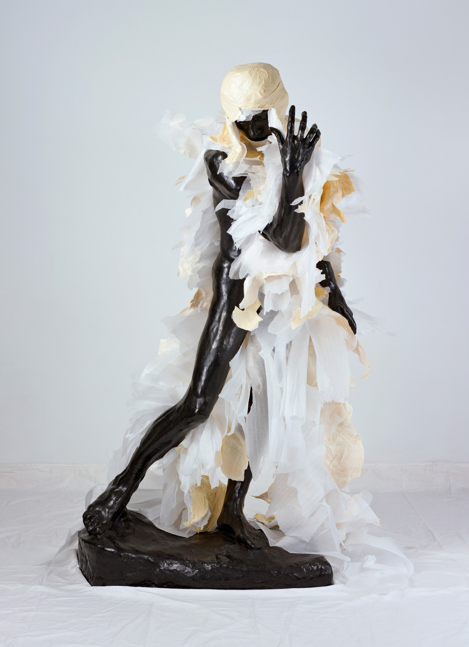 Unwrapping Rodin (White) 6   2010, colour photograph 175 x 127 cm / 69 x 50 in. Edition of 2