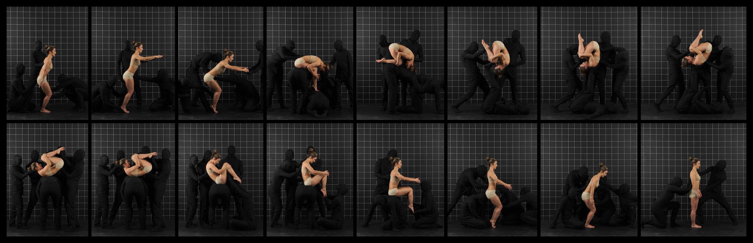 """After Muybridge (Front Flip)  2016, archival pigment print 46.5 x 143.5 cm (18.25"""" x 56.5"""")  93 x 287 cm (36.5"""" x 113"""") Editions of 2"""