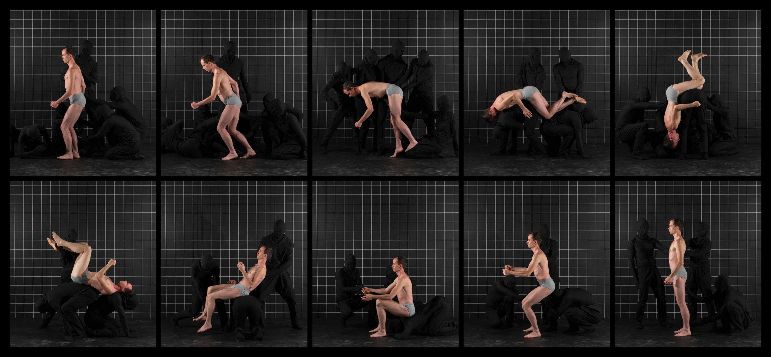 """After Muybridge (Front Flip 2)  2016, archival pigment print 46.5 x 100.5 cm (18.25"""" x 39.5"""")  93 x 199.5 cm (36.5"""" x 78.5"""") Editions of 2"""