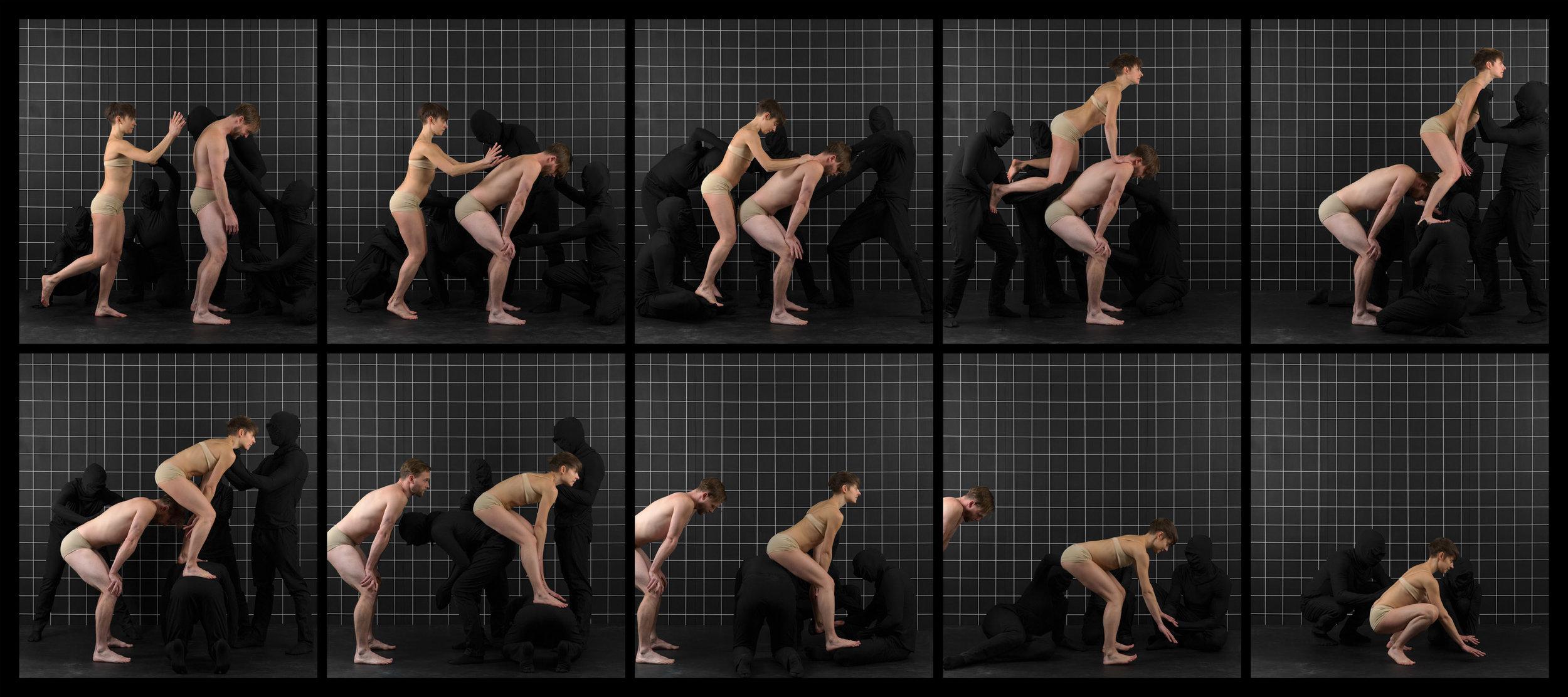 "After Muybridge (Leap Frog)  2016, archival pigment print 46.5 x 104 cm (18.25"" x 41"")  93 x 208.5 cm (36.5"" x 82"") Editions of 2"