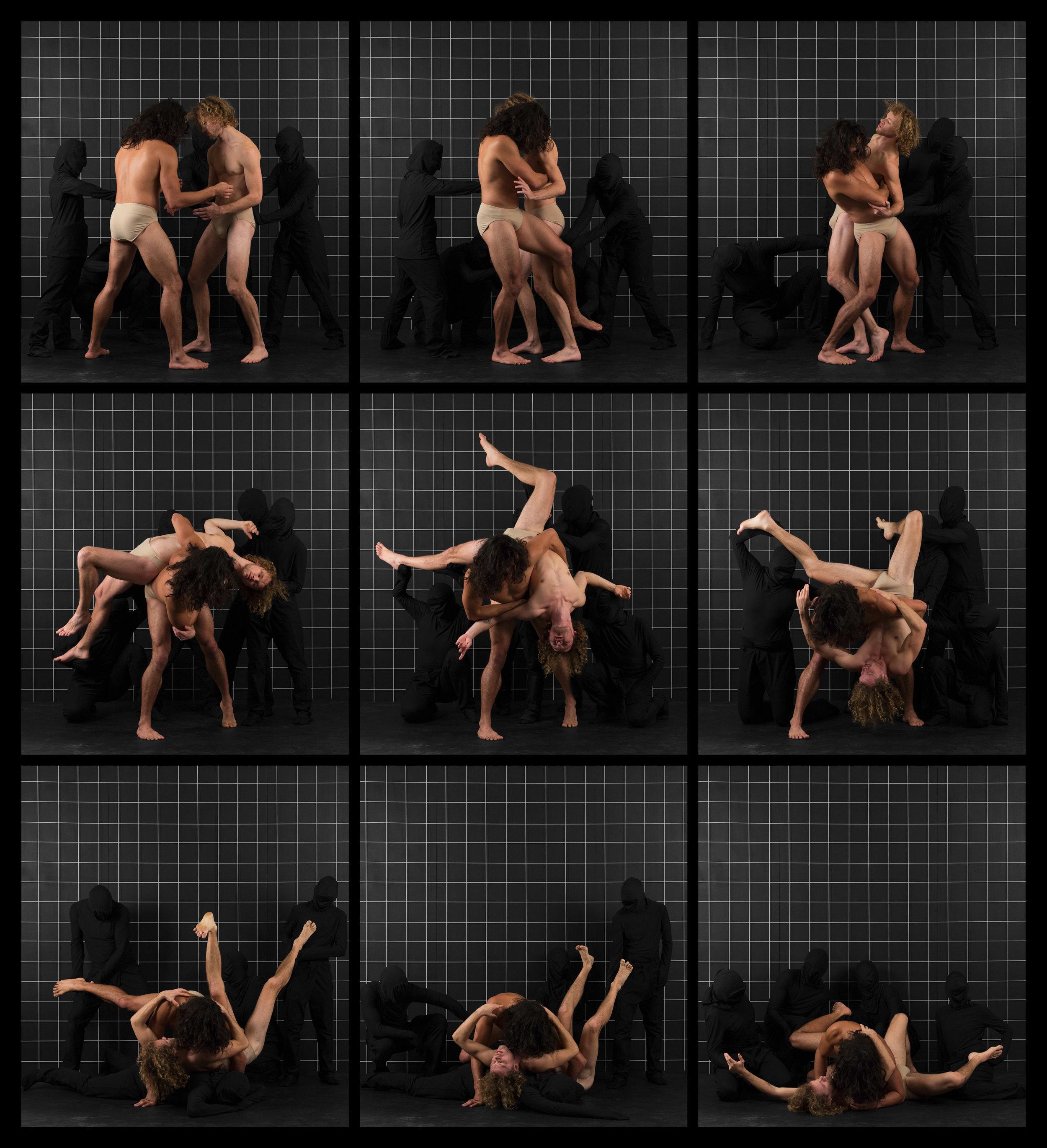 "After Muybridge (Wrestlers 2)  2016, archival pigment print 68.5 x 62 cm (27"" x 24.5"")  137 x 124.5 cm (54"" x 49"")  Editions of 2"