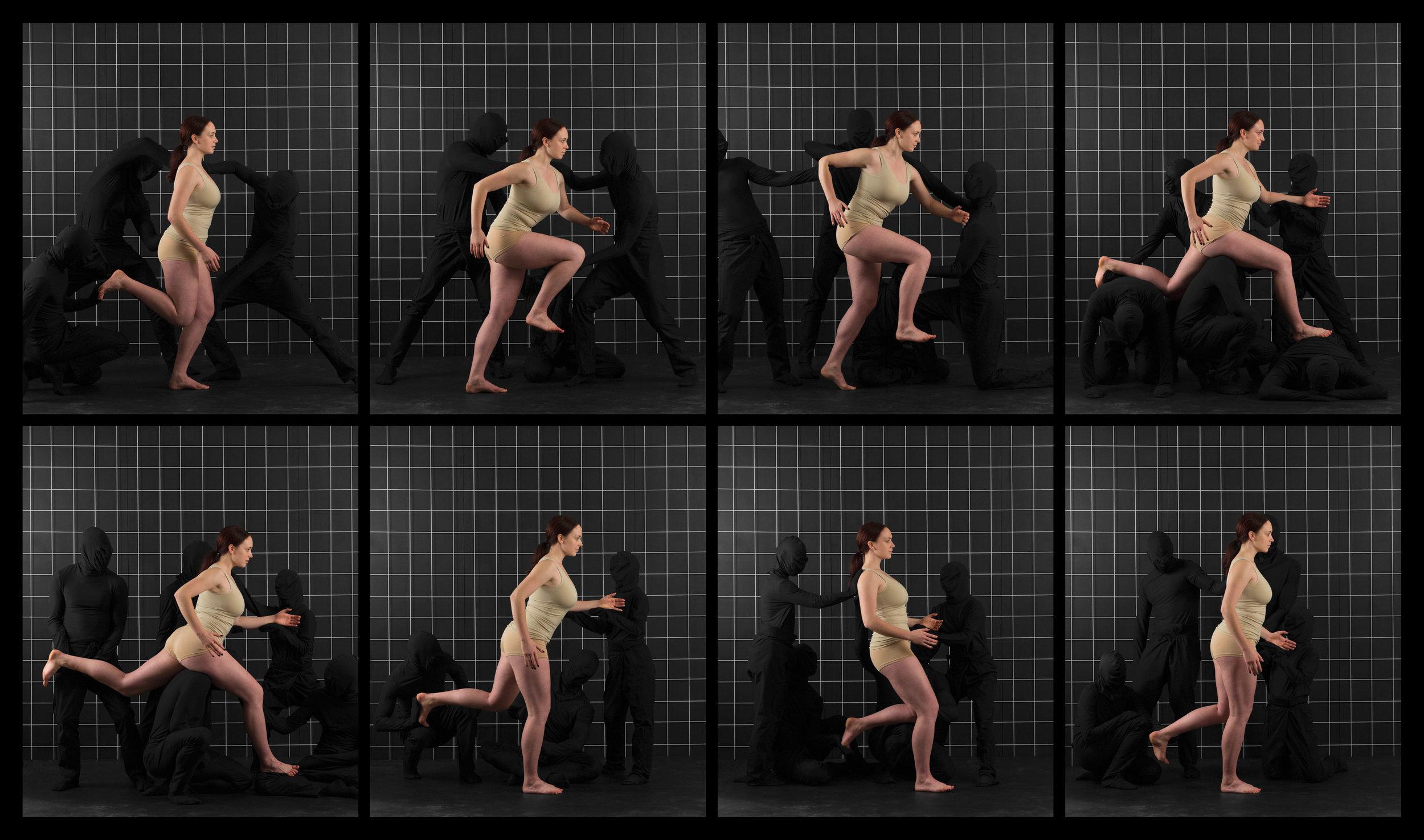 "After Muybridge (Woman Running)  2016, archival pigment print 46.5 x 79 cm (18.25"" x 31"")  93 x 157.5 cm (36.5"" x 62"")  Editions of 2"