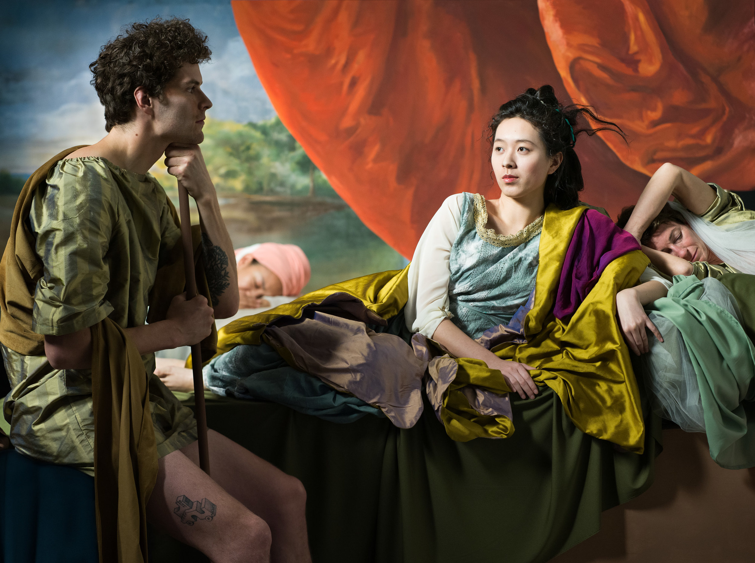 """The Decameron Retold (after Cymon and Iphigenia, Benjamin West)  2019, archival pigment print SMALL 26"""" x 34.5"""", MEDIUM 39"""" x 52"""", LARGE 52"""" x 69.25"""" All sizes combined edition of 5"""