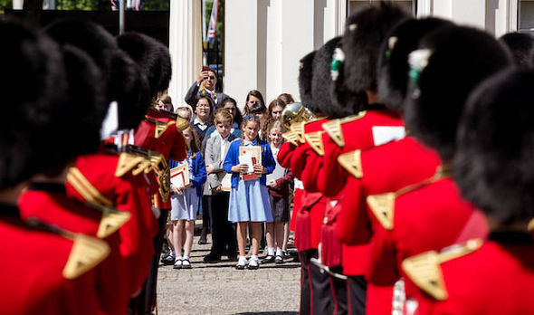 Never Such Innocence winners watched by the Band of the Welsh Guards