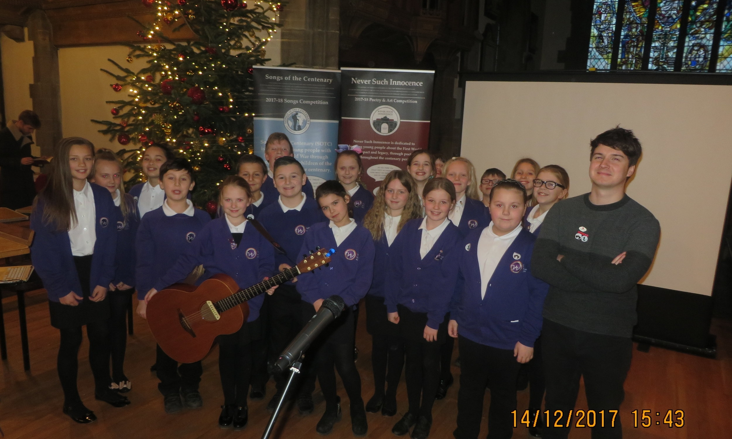 The group performed their song at Sunderland Minster for other schools and the great and good of the community!