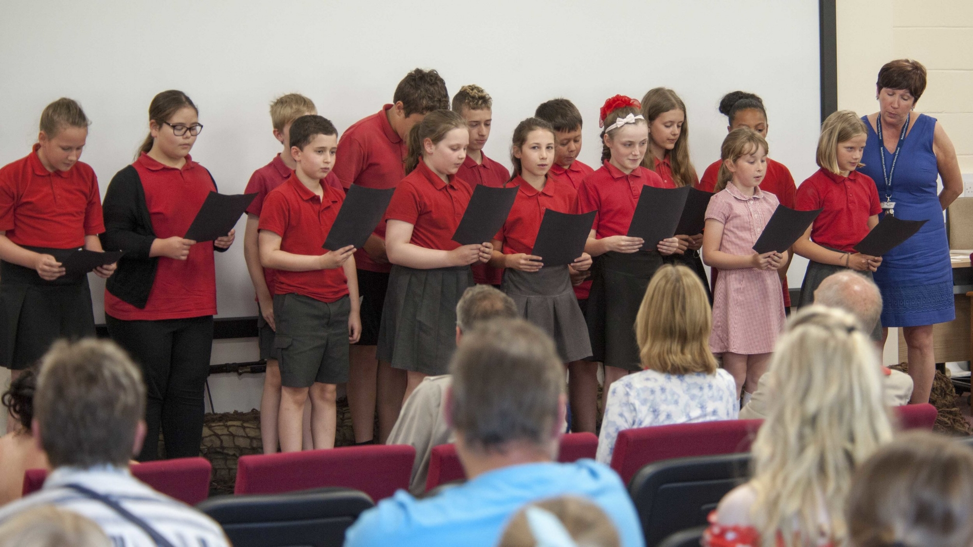 Pupils from Bellefield Primary School Performing at Warminster Garrison