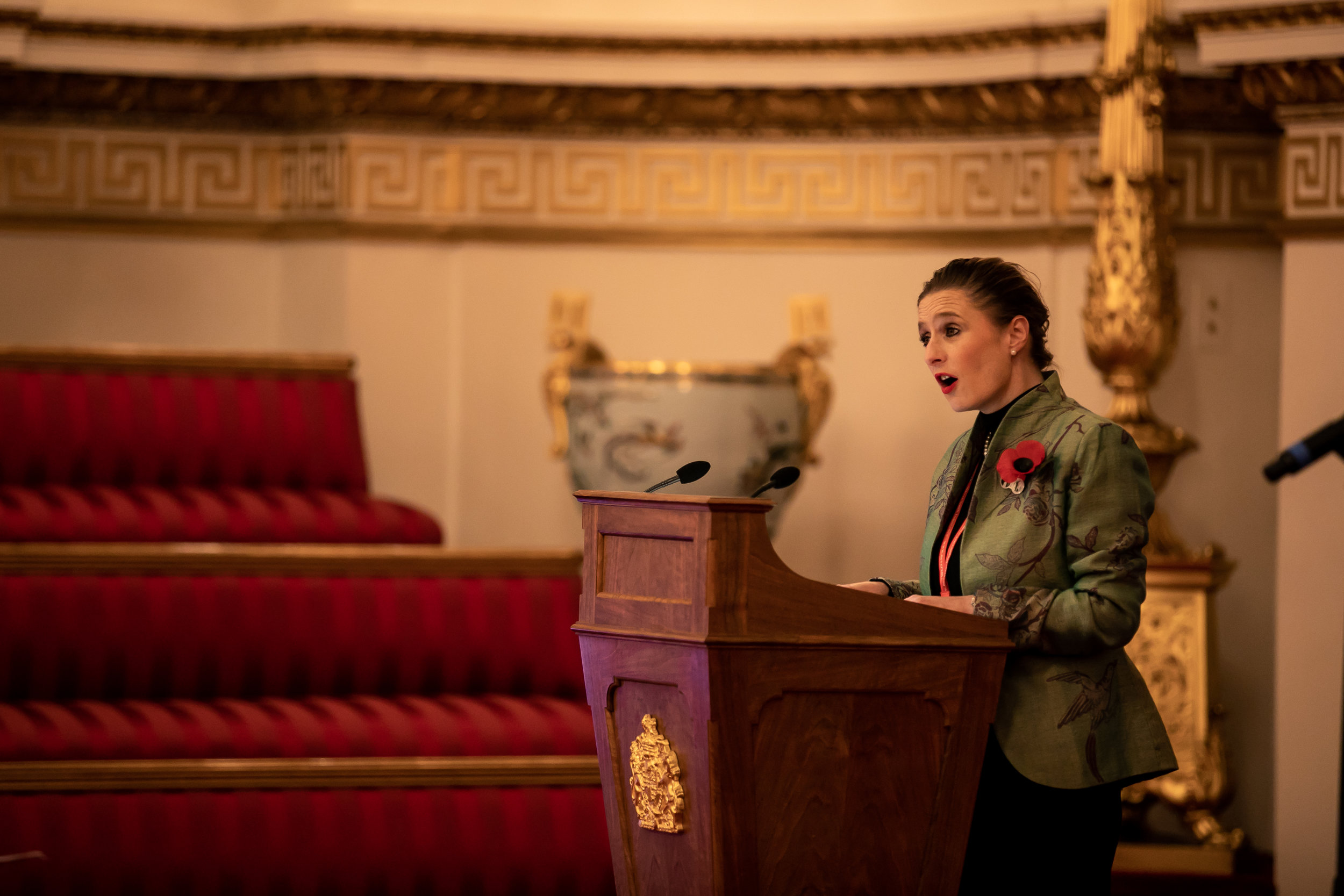 Lady Lucy French OBE. Founder and Chief Executive of Never Such Innocence, addresses the winners and guests