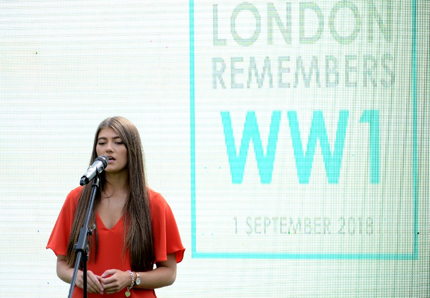 Lydia sang  Remember  at the Royal Hospital Chelsea, for the London Remembers WW1 event