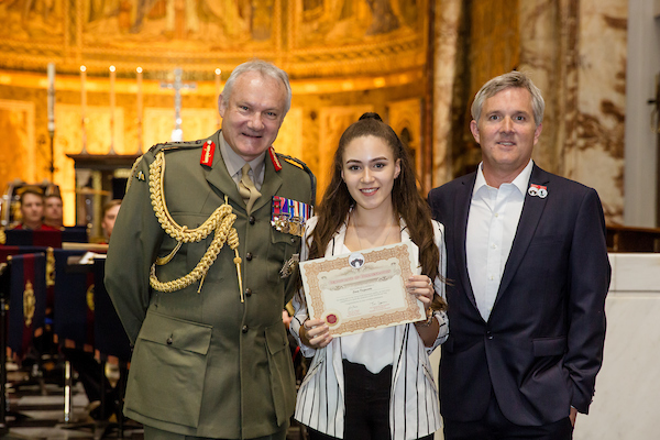 Lara accepted her certificate at the 2016/17 Awards Ceremony, from General Sir Gordon Messenger - Vice Chief of Defence Staff, and Jono Hart - Managing Partner of Dave Stewart Entertainment