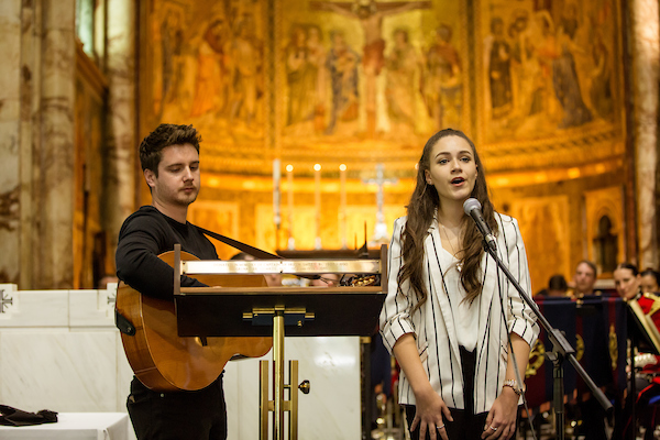 Lara performed her song at the Guards Chapel during the 2016/17 Awards Ceremony