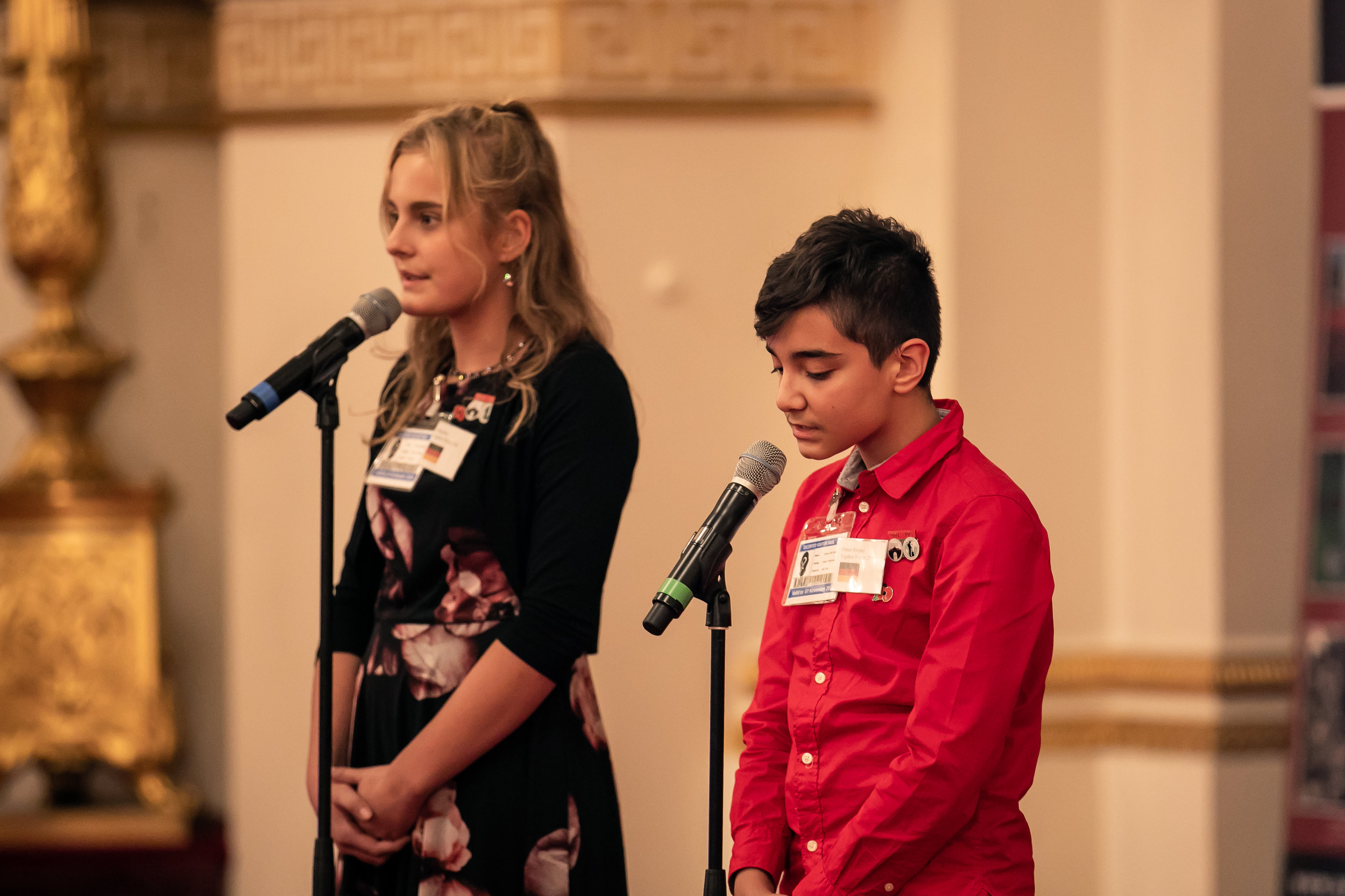 Alina and Osman sang their song at the Never Such Innocence Centenary Finale, at Buckingham Palace