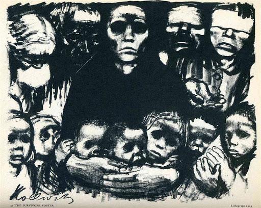 kathe kollwitz, the survivors, 1923