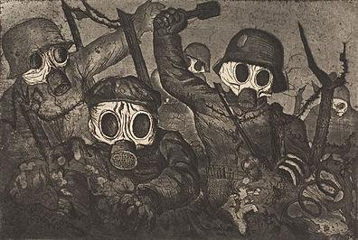 ©DACS 2016 - otto dix, storm troopers advancing under gas, 1924