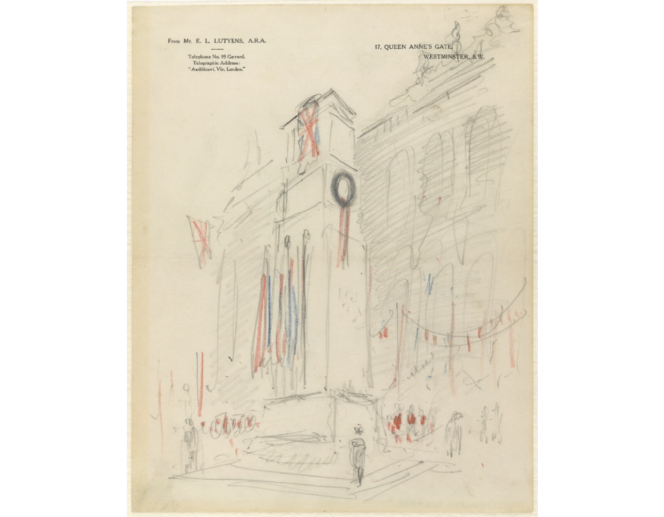 © IWM Art 16377 1. a sketch of the proposed cenotaph.