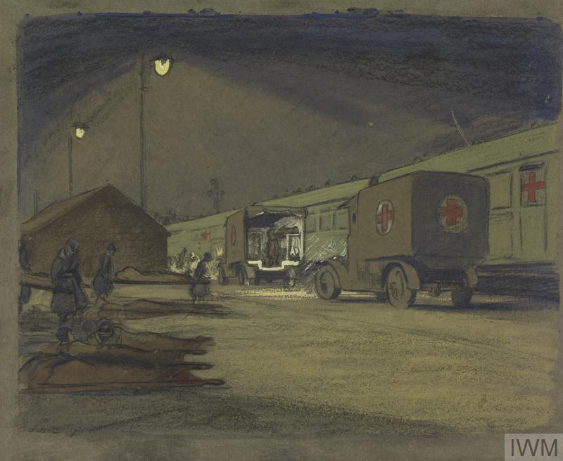 © IWM Art 3089. etaples hospitals in siding.