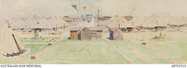 Drawing of the 3rd agh in abbeville france, 1918.