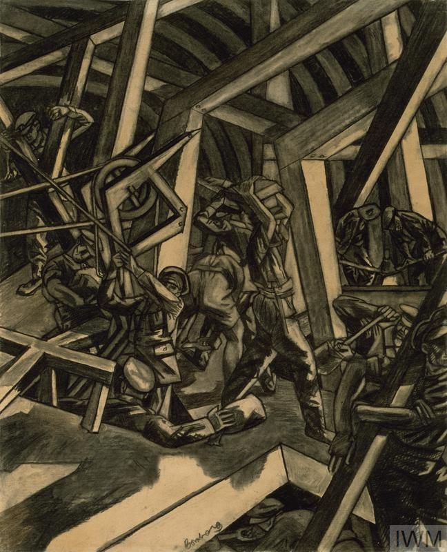 © IWM ART 2708. Sappers at work: canadian tunnelling company by david bomberg