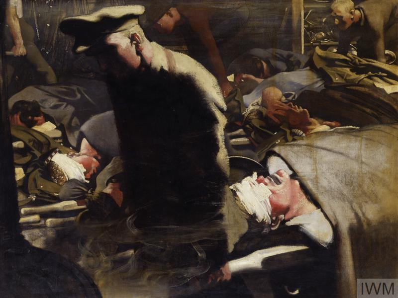 © IWM Art 4744 gassed and wounded by eric henri kennington