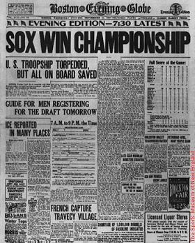 © the 1918 world series