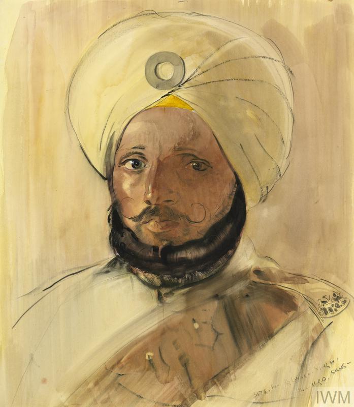 © IWM art 2347 john daniel revel, sepoy, 14th sikhs