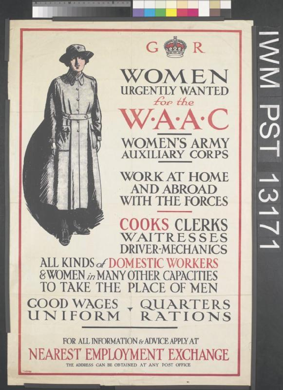 © IWM art pst 13171 women urgently wanted for the waac