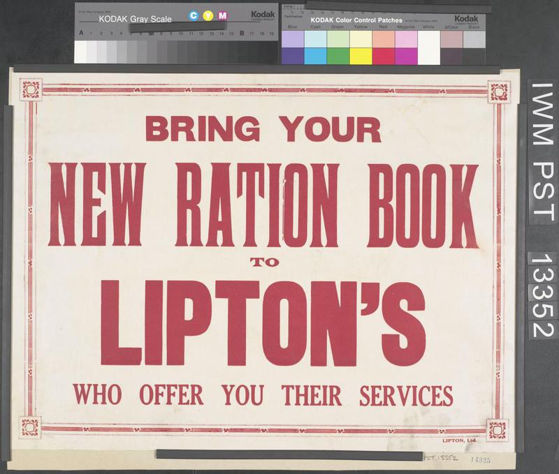 © IWM Artspt 13352. the government introduced rationing in 1918.
