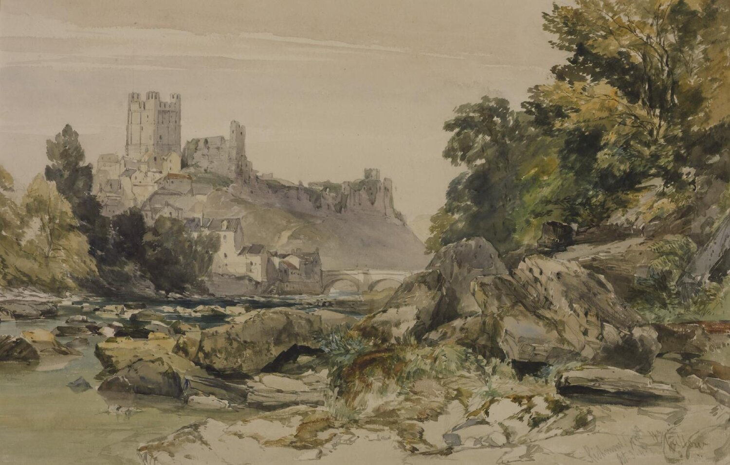 Richmond Castle, Yorkshire by WILLIAM CALLOW