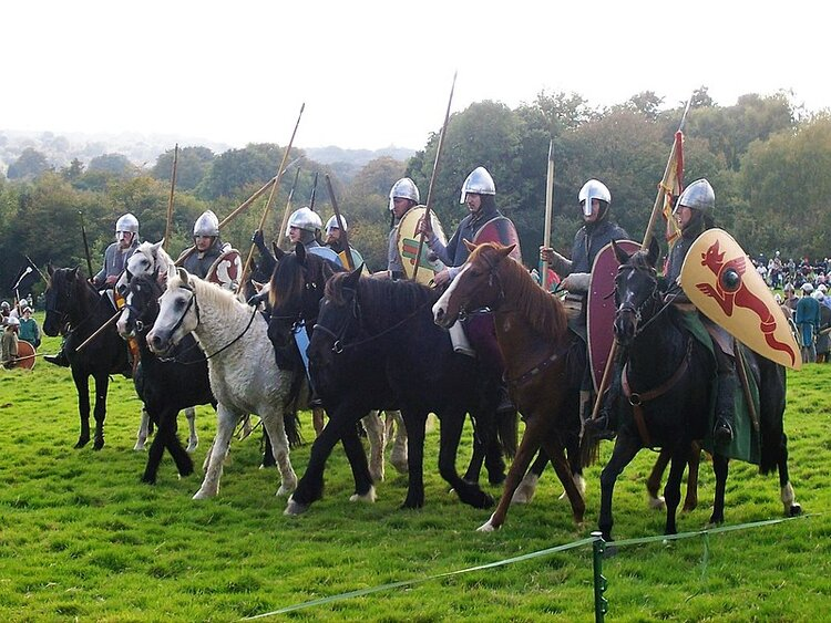 Re-enactment of Battle of Hastings at Battle Abbey, October 14, 2017