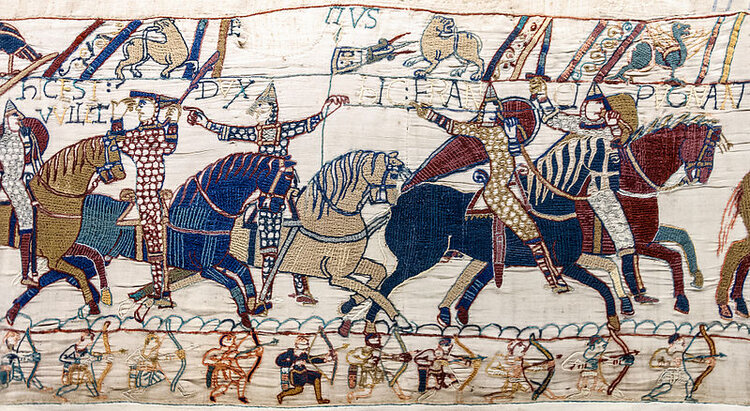 Bayeux Tapestry - the battle of hastings Scenes 55 & 56