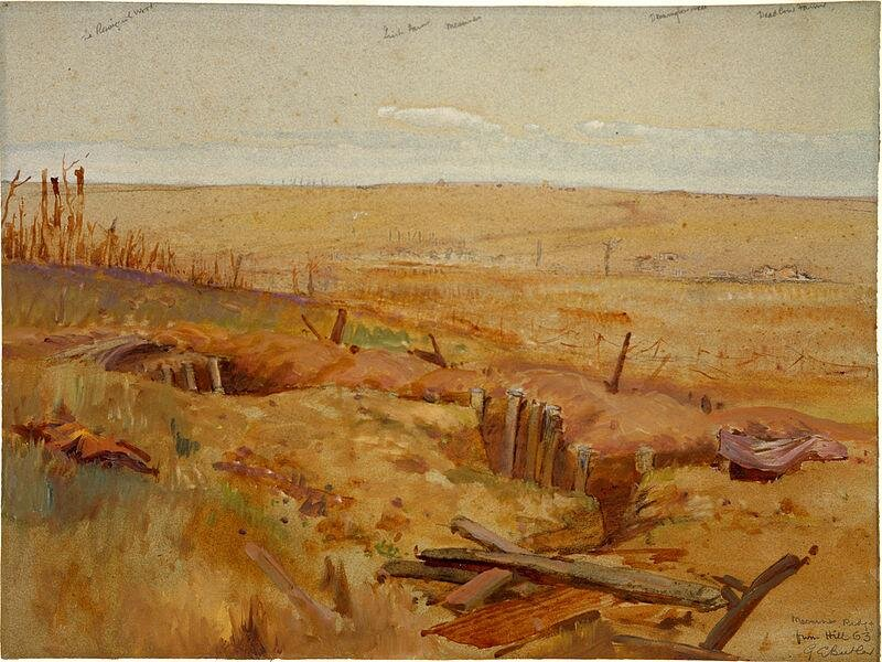 © messines ridge from hill by george edmund butler