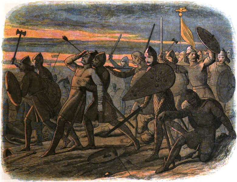 The scene from the end of the battle of hastings and the start of a different life for many anglo-saxons.
