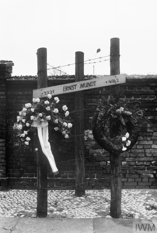 West Berlin memorial marking the spot where an East German, Ernst Mundt, was killed while attempting to escape over the Berlin Wall on 4 September 1962 © Crown copyright. IWM (MH 30733)