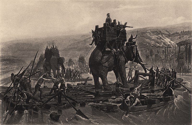 HANNIBAL BARCA CROSSING THE RHÔNE.