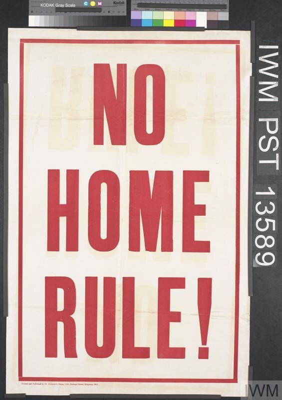 NO HOME RULE POSTER © IWM (Art.IWM PST 13589)