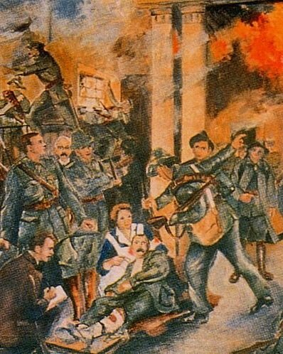 Easter Rising - Birth of the Irish Republic by Walter Paget (1835 - 1935)