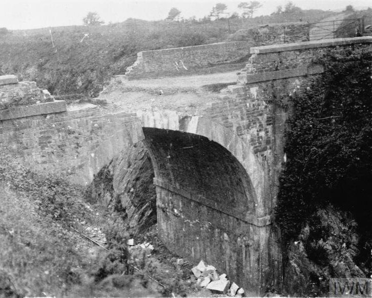 IRA Tactics - Remains of Waterfall Bridge after IRA action © IWM (Q 107761)