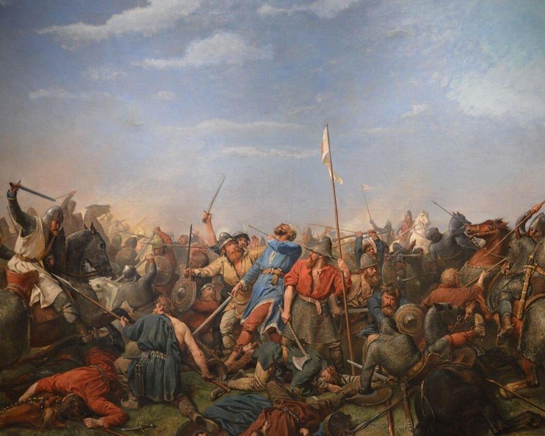 The Battle of Stamford Bridge  by Peter-Nicolai Arbo