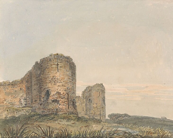Pevensey Castle, Sussex by  Thomas Girtin (1775-1802)