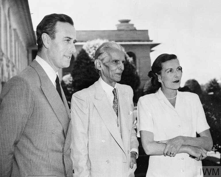 British Government - Viceroy of India: Lord and Lady Mountbatten meet Mr Mohammed Ali Jinnah, the Future leader of Pakistan. 1956-1989. © IWM (IND 5302)