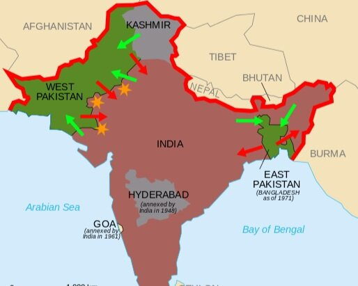 Partition - The Partition of India (1947) author: Partage_de_linde This file is licensed under the creative commons attribution-share alike 2.5 generic, 2.0 generic and 1.0 genericlicense.