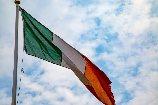 the irish tricolour flag