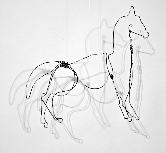 Wire horse