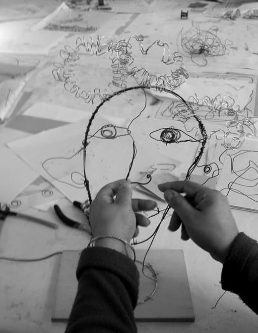 Wire portrait workshop