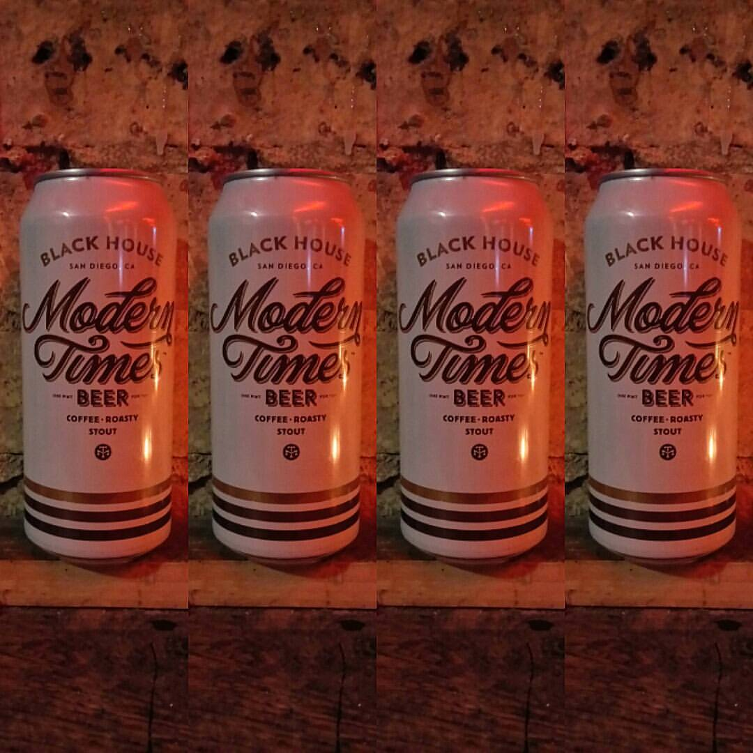 Modern Times' Black House oatmeal Stout. Does exactly what it says on the tin. Coffee. Roasty. Stout.