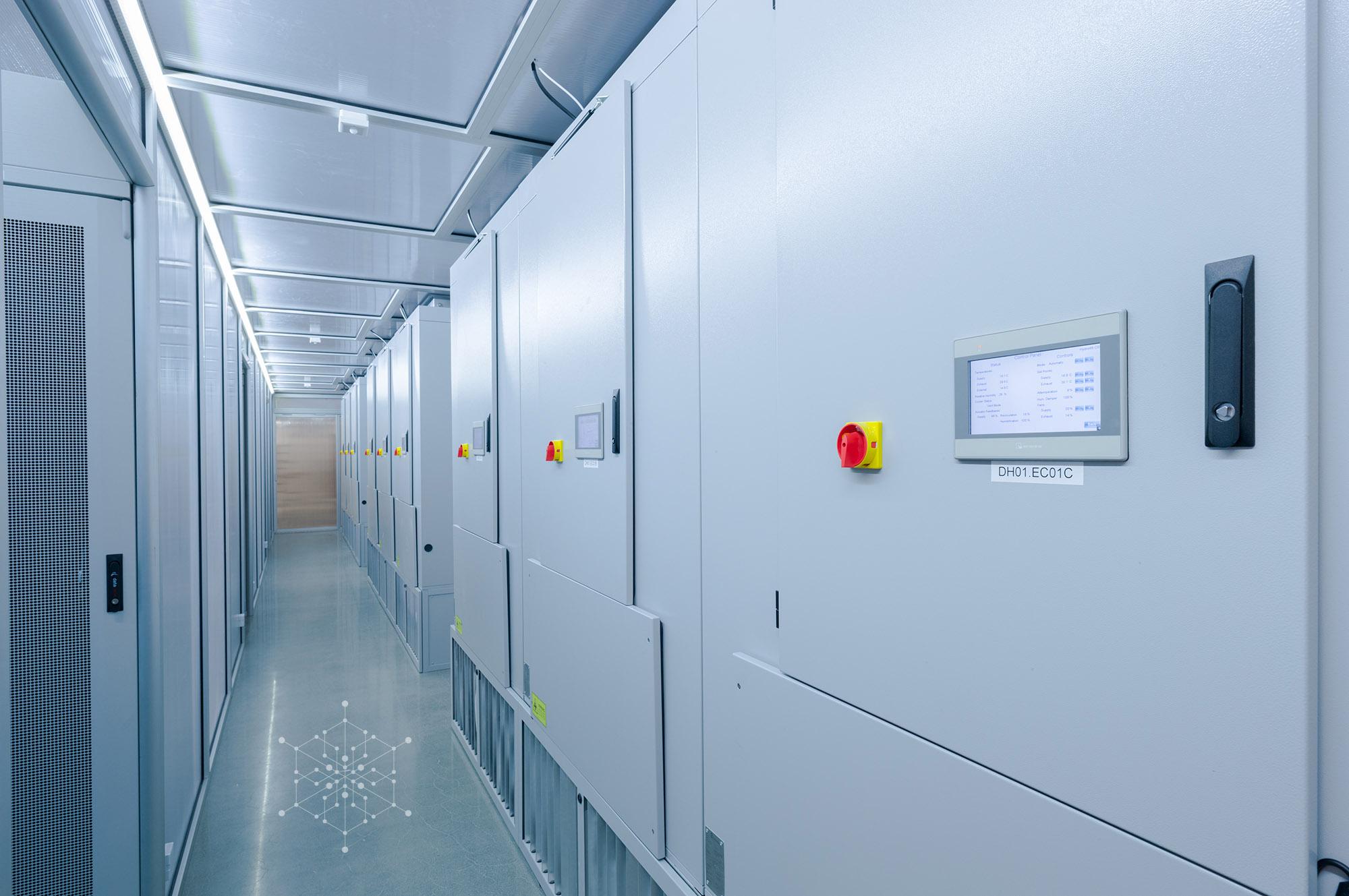 ECT 10800 CloudCoolers down corridor at Hydro66 data centre